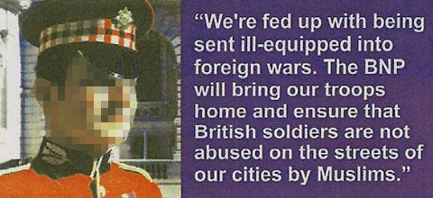 Soldier's face stolen by BNP