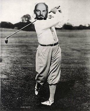 lenin-golfing
