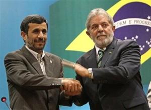 Ahmadinejad and Luiz Inacio Lula da Silva